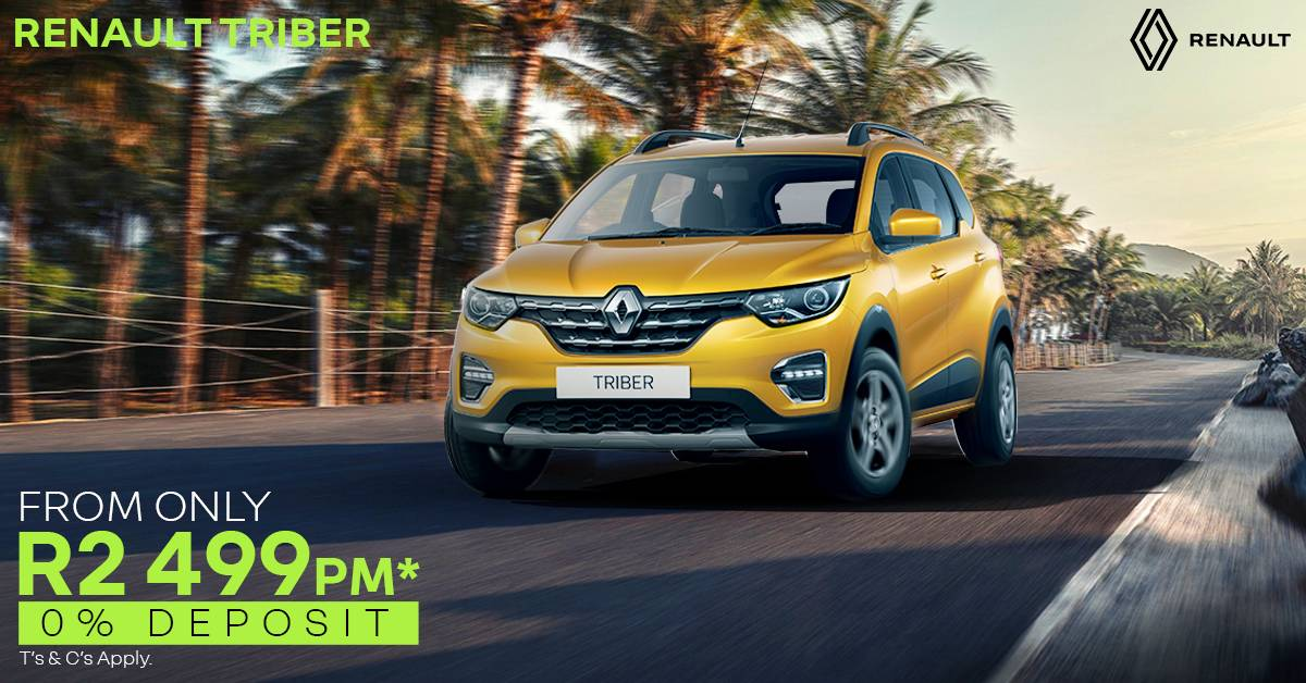 Renault TRIBER | From Only R2,499pm