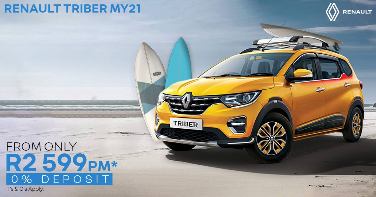 Renault Triber MY21 | From Only R2,599pm