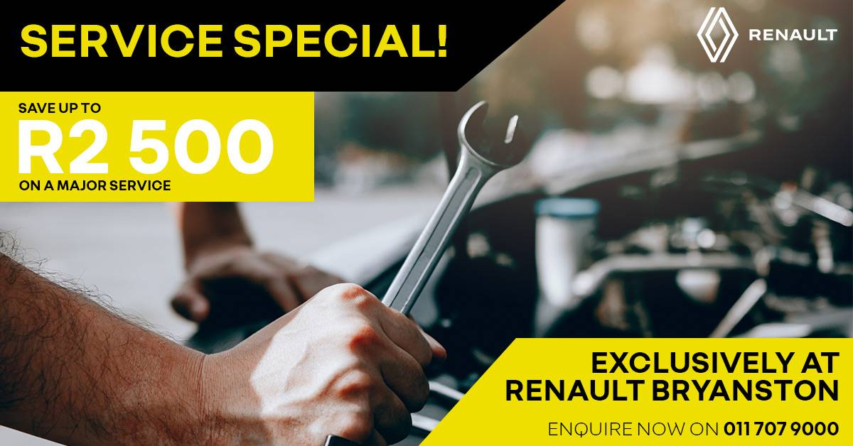 Head to Renault Bryanston for this exclusive deal!