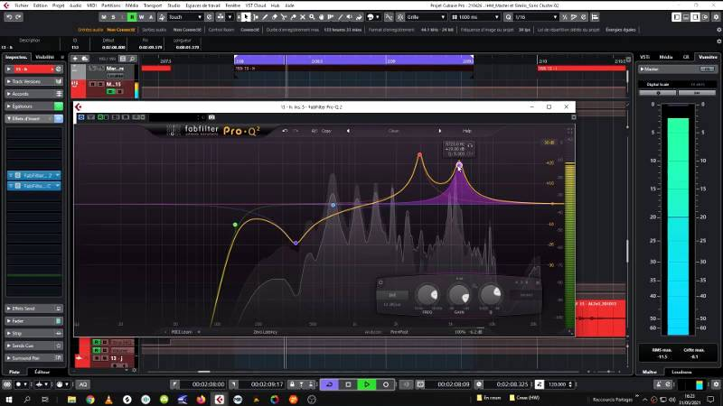 Mixing the sound material with adapted rhythms and modulations requires extreme precision